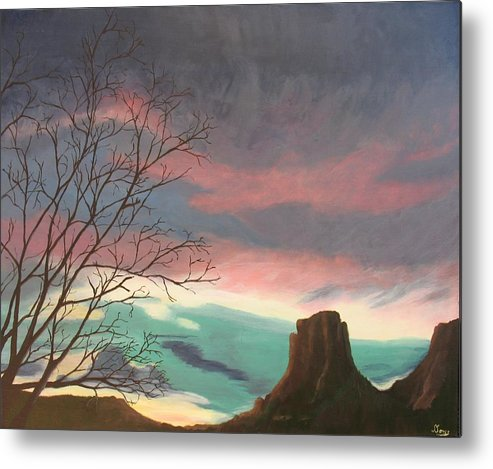 Sedona Metal Print featuring the painting Jewels In The Sky by Janis Mock-Jones