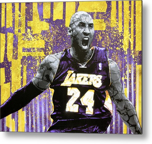 Kobe Metal Print featuring the painting Kobe The Destroyer by Bobby Zeik