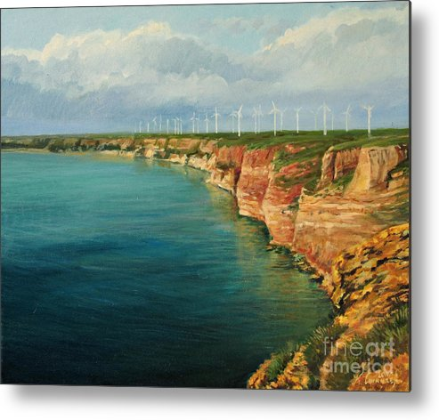 Art Metal Print featuring the painting Land Of The Winds by Kiril Stanchev