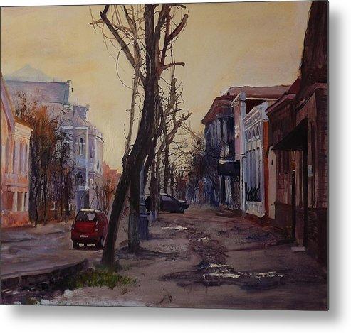 Streen Metal Print featuring the painting Lugansk Old Street by Danil Shurykin