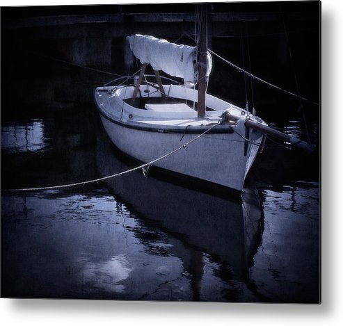 Boat Metal Print featuring the photograph Moonlight Sail by Amy Weiss