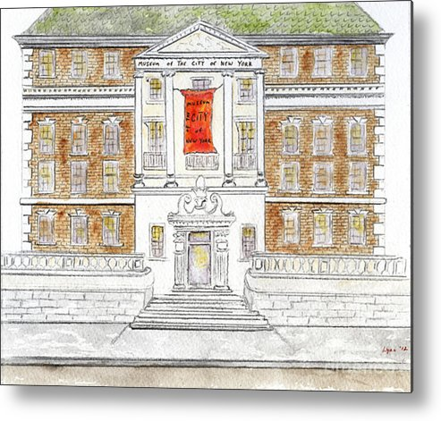 Museum Of The City Of New York Metal Print featuring the painting Museum Of The City Of New York by AFineLyne