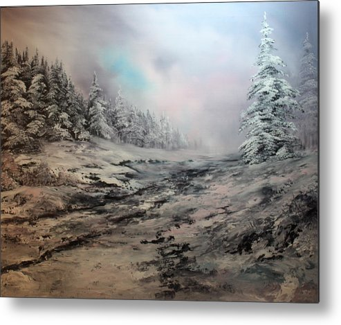 Cannock Chase Metal Print featuring the painting My Idea Of Heaven by Jean Walker