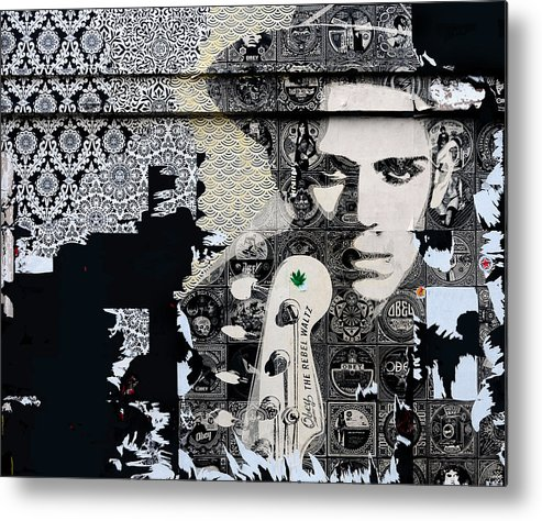 Mural Metal Print featuring the photograph Obey by JoAnn Lense