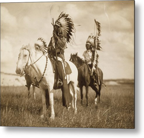 Indians Metal Print featuring the photograph Sioux Chiefs by Unknown