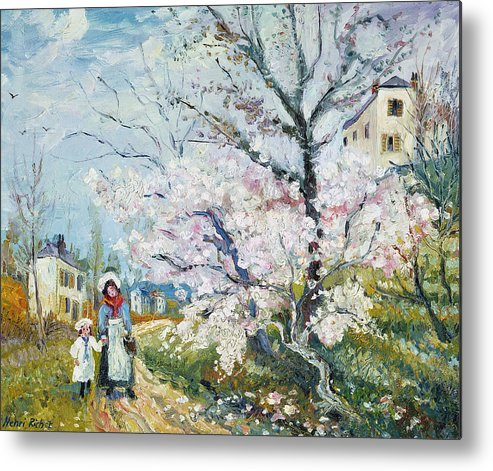 Garden Metal Print featuring the painting Spring Blossom by Henri Richet