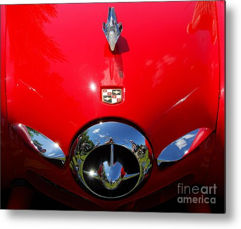 Studebaker Metal Print featuring the photograph Studebaker In Red by Ken Andersen