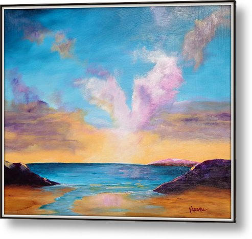 Sunset Painting Metal Print featuring the painting Sunset Cove by Deborah Naves
