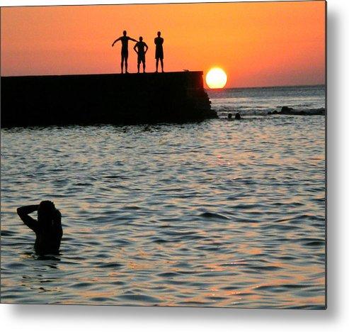 Brasil Metal Print featuring the photograph Sunset In Porto Da Barra by Manuel Prieto