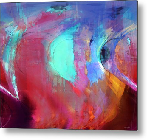 Abstract Metal Print featuring the digital art The Afterglow by Linda Sannuti