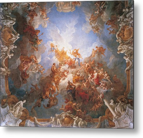 The Apotheosis Of Hercules Metal Print By Francois Lemoyne