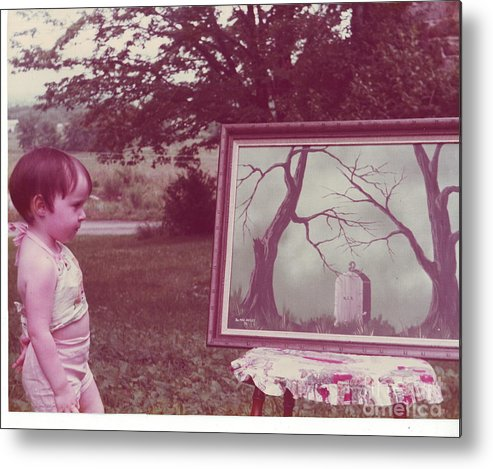 Child Metal Print featuring the photograph The Art Critic by Richard Brooks