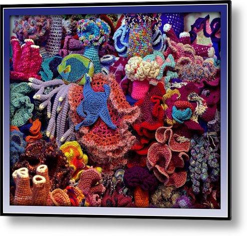 The Crochet Coral Reef Metal Print By Farol Tomson