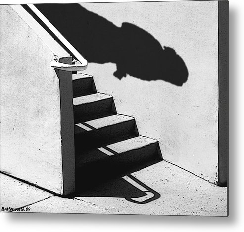 Architecture Metal Print featuring the photograph The First Step by Larry Butterworth