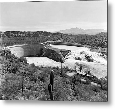 1941 Metal Print featuring the photograph The Salt River In Arizona by Underwood Archives