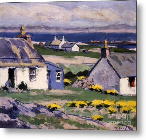 Cadell Metal Print featuring the painting The Two Crofts by Francis Campbell Boileau Cadell