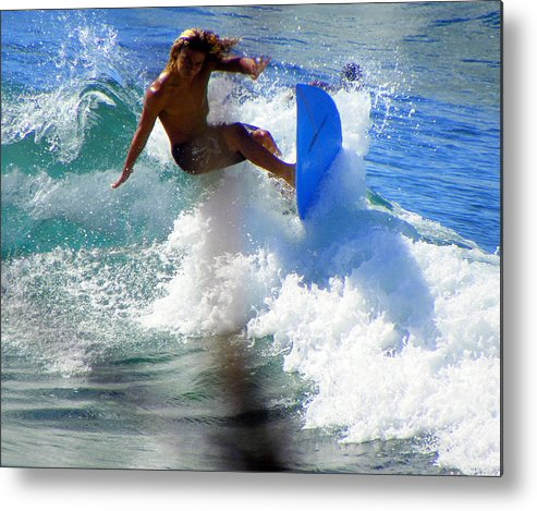 Surfers Metal Print featuring the photograph Wave Rider by Karen Wiles