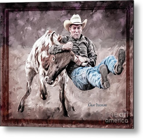 Bull-doggin Metal Print featuring the photograph Who's Having More Fun? by Char Doonan