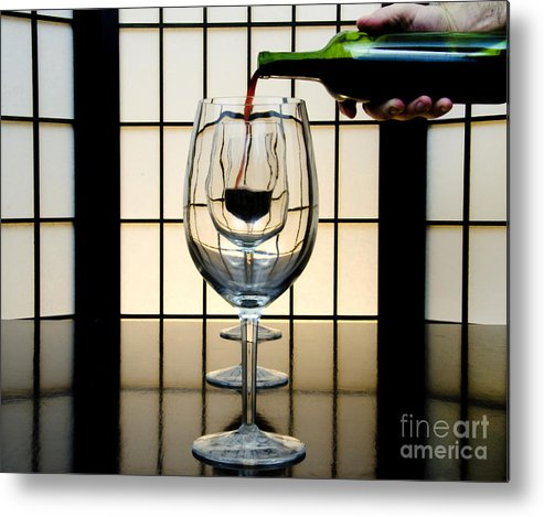 Banquet Metal Print featuring the photograph Wine For Three by John Debar