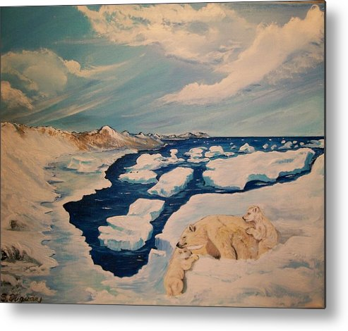 Alaska Metal Print featuring the painting You Can Make It by Sharon Duguay