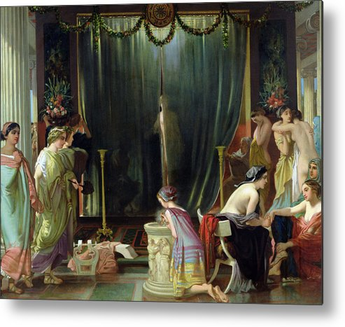 Harem Metal Print featuring the painting Zeuxis Choosing A Model For Helen by Victor Mottez