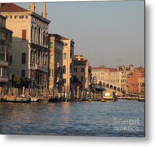 Grand Canal Metal Print featuring the pyrography Grand Canal. Venice by Bernard Jaubert