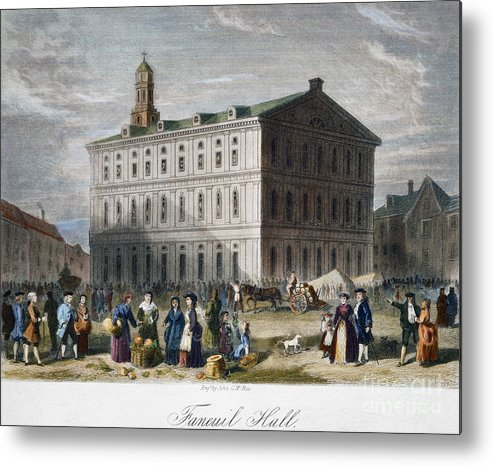 1776 Metal Print featuring the photograph Boston: Faneuil Hall, 1776 by Granger