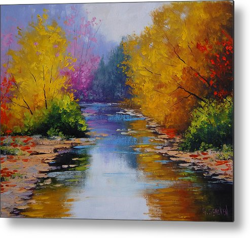 Fall Metal Print featuring the painting Fall Colors by Graham Gercken