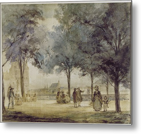 1786 Metal Print featuring the photograph Paris: Tuilerie Gardens by Granger