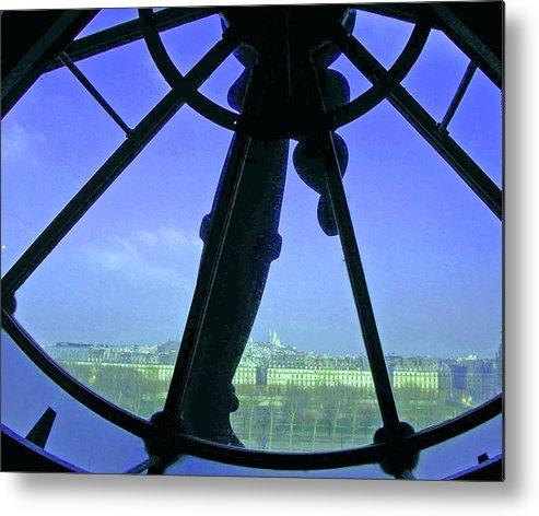 Paris Metal Print featuring the photograph Parisian Time by Ellen Holmes