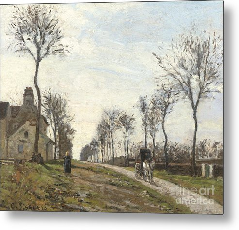 Camille Metal Print featuring the painting Road In Louveciennes by Camille Pissarro