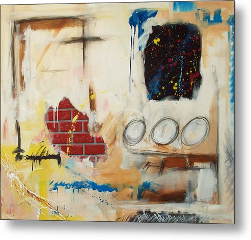 Abstract Metal Print featuring the painting Rough Rider by Snake Jagger