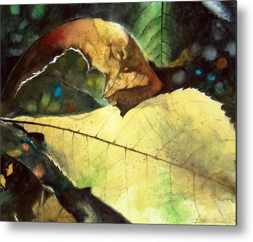 Fall Metal Print featuring the painting September Afternoon by Andrew King
