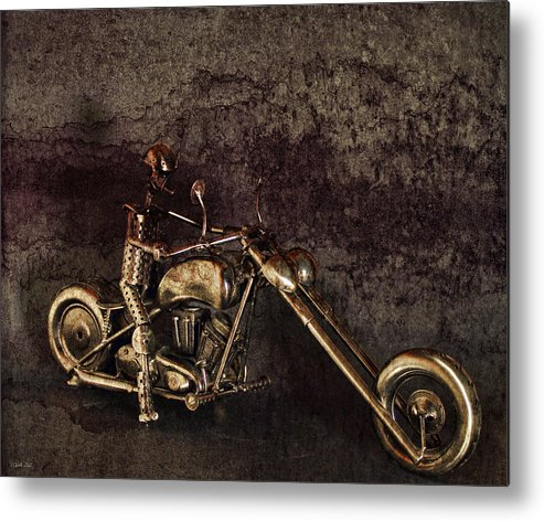 Motorcycle Metal Print featuring the photograph Steel Horse by Peter Chilelli