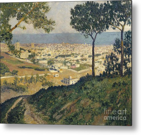 Dar�o De Regoyos Metal Print featuring the painting Barcelona Seen From Vallvidrera by Celestial Images