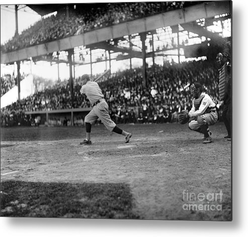 1921 Metal Print featuring the photograph George H. Ruth (1895-1948) by Granger