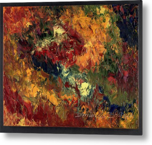 Abstract Metal Print featuring the painting Le Feu Et La Vie 3 by Dominique Boutaud