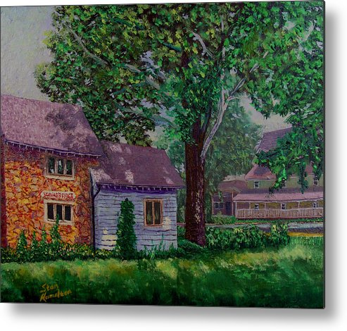 Landscape Metal Print featuring the painting Schwabs Fudge by Stan Hamilton