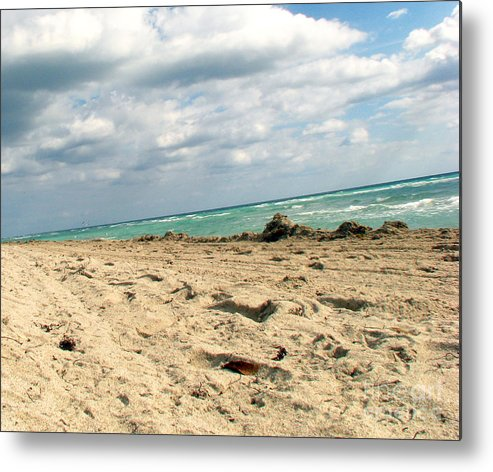 Miami Metal Print featuring the photograph Miami Beach by Amanda Barcon