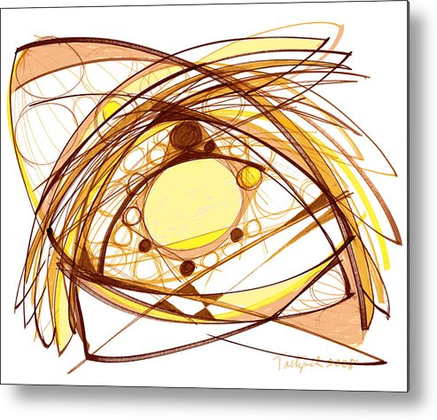 Abstract Art Metal Print featuring the drawing Abstract Pen Drawing Eleven by Lynne Taetzsch