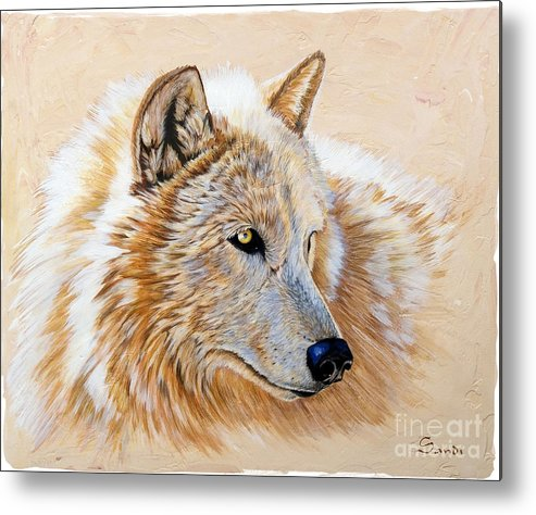 Acrylic Metal Print featuring the painting Adobe White by Sandi Baker
