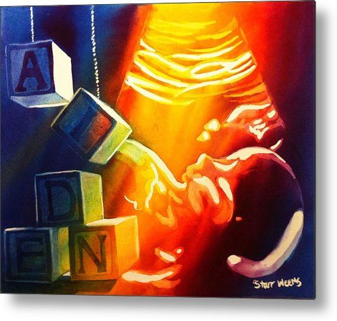Aiden Metal Print featuring the painting Aiden by Starr Weems