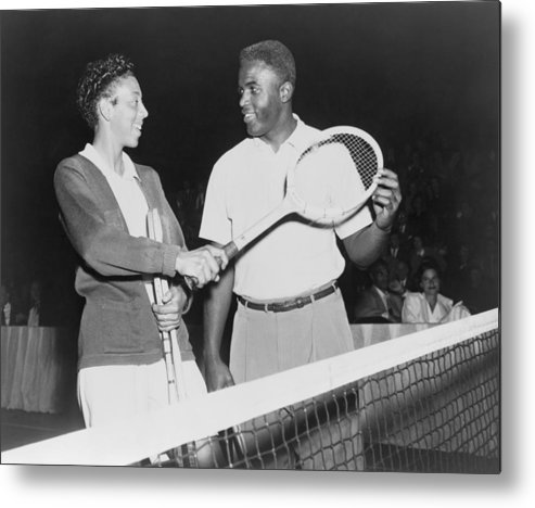 History Metal Print featuring the photograph Althea Gibson 1927-2003 And Jackie by Everett