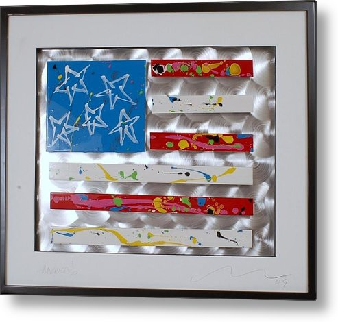 Aluminum Metal Print featuring the sculpture America Edition 5 by Mac Worthington