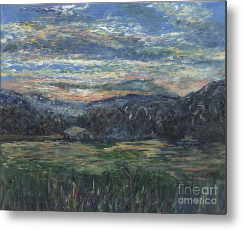 Impressionism Metal Print featuring the painting Arkansas Sunrise by Nadine Rippelmeyer