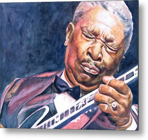 Bb King Metal Print featuring the painting Bb King by Adrienne Norris