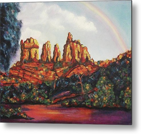 Arizona Metal Print featuring the painting Beautiful Arizona by Suzanne Marie Leclair