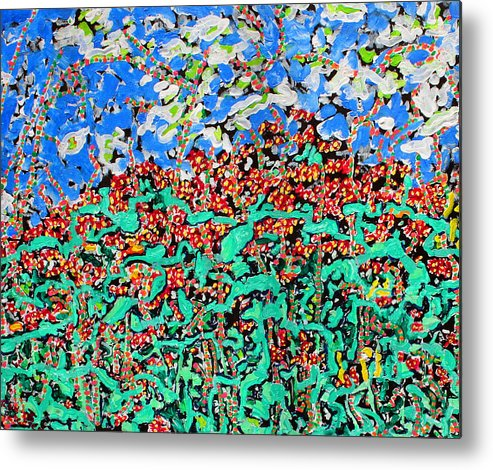 Delaware Metal Print featuring the painting Beebalm Anastromosis Sold by Ray Petersen