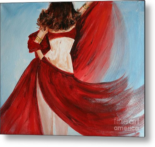 Belly Dancers Metal Print featuring the painting Belly Dancer by Julie Lueders