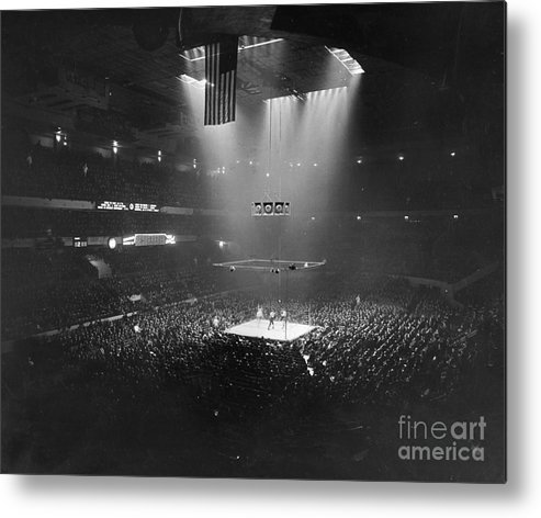 1941 Metal Print featuring the photograph Boxing Match, 1941 by Granger